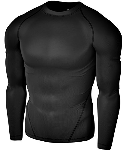 Tesla Men's Thermal & Cool Compression Under Base Layer Gear Wear Long Sleeve -R