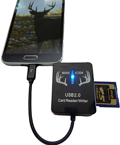 BoneView Trail and Game Camera Viewer for Android Phones, Micro USB Connector, Reads SD and Micro SD Cards