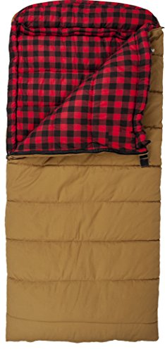 Teton Sports Deer Hunter 0 Degree Sleeping Bag, Brown, 90-Inch x 39-Inch, Right Zip