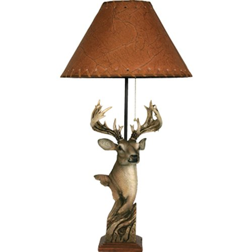 Rivers Edge Products Deer Poly Resin Lamp