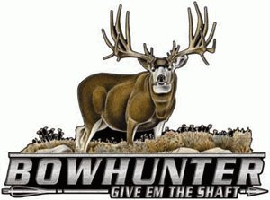 Bowhunter Color Mule Deer Hunting Automotive Window Decal