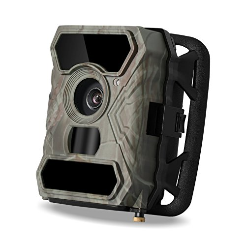 Wildlife Trail Camera, LDesign Game Camera for Hunting Waterpfoof HD Infrared Deer Camera with Wide Angle Infrared Night Vision with IR LEDs & PIR Sensor (1080P-No Glow-56PCs IR LEDs)