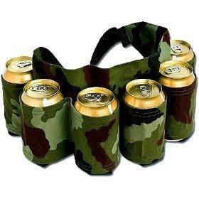 Redneck 6 Pack Beer & Soda Can Holster Belt - Camo