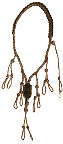 Duck Call Lanyard - Secures 5 Calls - Premium Hand Braided Camo 550 Paracord - Best for Goose, Predator, Varmint, Deer or Duck Calls - Adjustable Loops - Outdoor Hunting Gear - Protect your investments - Lifetime No-Hassle Free Replacement Guarantee