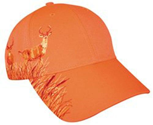 Blaze Orange Deer Hunting Hat With Buck Design