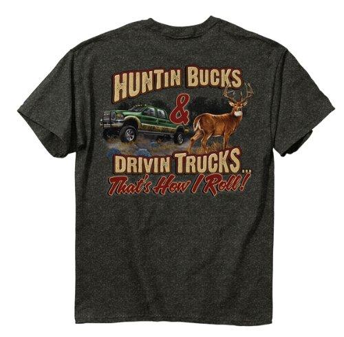 Buckwear Hunting Bucks Driving Trucks Men's T-Shirt