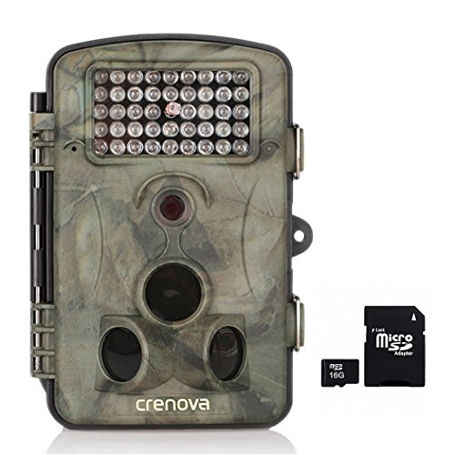 Crenova Game and Trail Hunting Camera Deer Camera 12MP 1080P HD With Time Lapse 65ft 120° Wide Angle Infrared Night Vision 42pcs IR LEDs 2.4