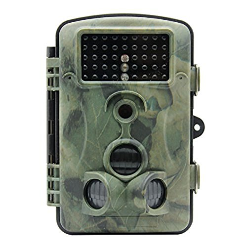 Wosports® 12 MP 1080P HD 120 degree Wide Angle IP54 Waterproof Hunting Trail Game Camera Surveillance Camera with 42 Pcs IR LEDs for Night Vision, Camo