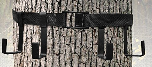 TREESTAND GEAR HANGER - 4 METAL J-HOOKS and a 200 POUND METAL CAM BUCKLE