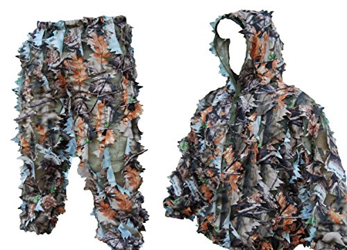 Ultra Light Camouflage Jacket Pants Leafy Ghillie Suit by Mosers