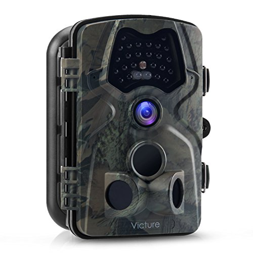 Victure Trail Game Camera 12 MP Night Vision Motion Activated Low Glow Infrared 2.4 inch LCD Screen Water Resistant Deer Hunting Scouting Camera for Wildlife Monitoring, Surveillance, Home Security