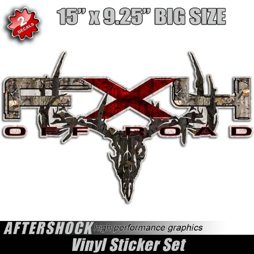 FX4 Camo Deer Skull Hunting F-150 Truck Sticker bowtech hoyt mathews