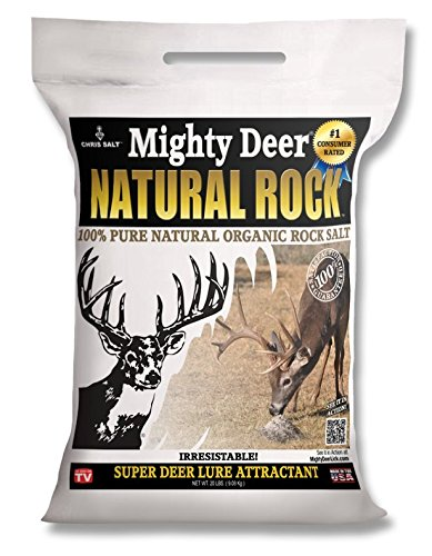 Deer Attractant - Mighty Deer Natural Rock Salt - Organic 20 Pound Bag