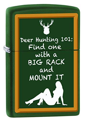 Zippo Lighter: Deer Hunting 101 - Green Matte